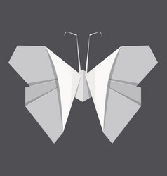 origami butterfly concept background realistic vector image