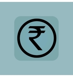 Pale blue rupee sign vector