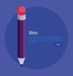 pencil school isometric icon vector image