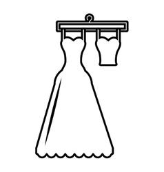 pictogram wedding dress bride hanging hook design vector image
