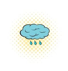 Rain cloud icon pop-art style vector