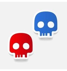 realistic design element skull vector image
