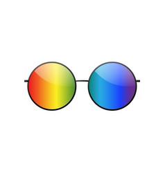 Round multicolor sunglasses 3d summer sunglass vector