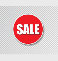 sale sticker round badge special offer banner vector image