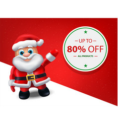 santa christmas sale banner - level map vector image