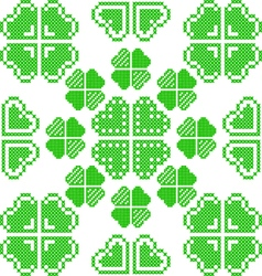 Seamless texture with green abstract patterns vector image