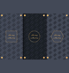 Set of chic backgrounds vector