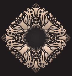Set of damask ornamental elements elegant floral vector