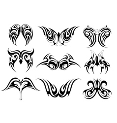Set of tribal art tattoo vector image