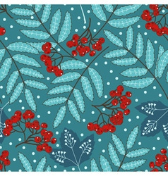 Stock seamless pattern with stylized leaves and vector image