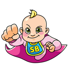 super baby girl flying vector image