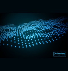 Technology particles background vector
