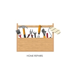 Toolbox Set of tools for home repairs vector