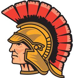 Trojan head logo mascot vector