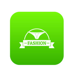 Underpant fashion icon green vector