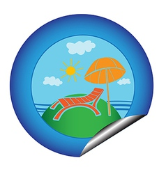 vacation sticker vector image