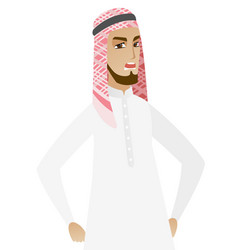 young muslim angry businessman screaming vector image