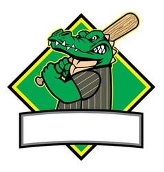 crocodille baseball player vector image vector image