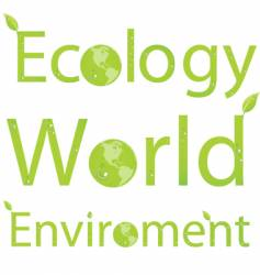 eco titles vector image