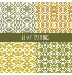 Four Ethnic Patterns vector image vector image