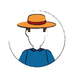 gardener farmer avatar vector image vector image
