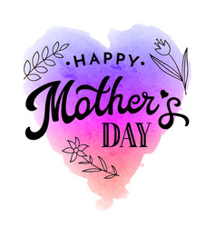 happy mothers day greeting card with flower vector image vector image