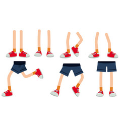 human legs on white background vector image