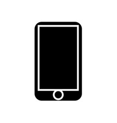 smartphone icon black sign vector image vector image