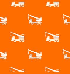 truck crane pattern seamless vector image