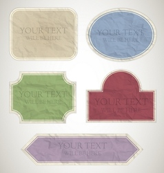 vintage labels paper vector image vector image