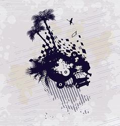 Desert Bedouin Oasis Concept Background vector image