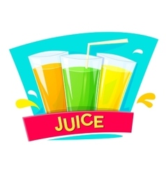 Juice concept design illlustration vector image