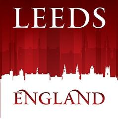 Leeds England city skyline silhouette vector image vector image