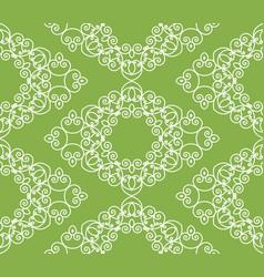 swirl greenery seamless pattern background vector image