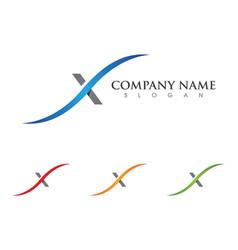 X letter logo template icon design vector