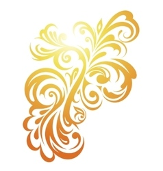 Decorative floral ornament vector image vector image