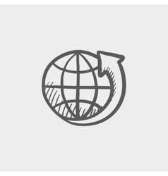 Earth design sketch icon vector image