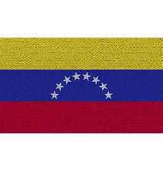 Flags Venezuela on denim texture vector image