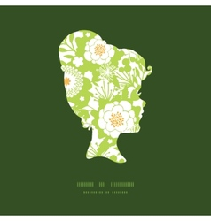 green and golden garden silhouettes girl vector image vector image