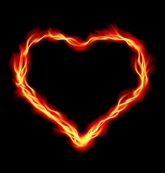Heart in fire vector