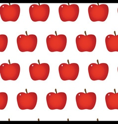 red apple repeatable seamless pattern vector image