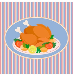 Turkey thanksgiving day vector