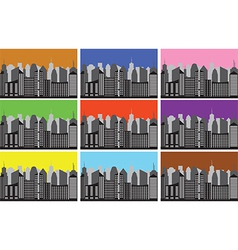City panoramas vector image