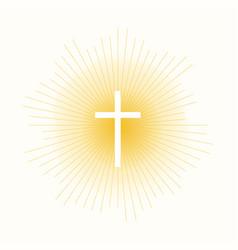 cross in sun lights vector image