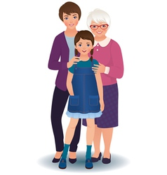 Grandmother with daughter and granddaughter vector image vector image