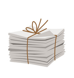 pile of fresh newspapers vector image
