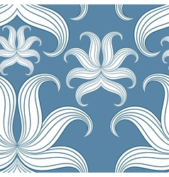 Seamless abstract floral pattern vector image vector image