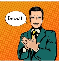 successful businessman vector image vector image