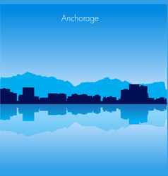 anchorage skyline vector image