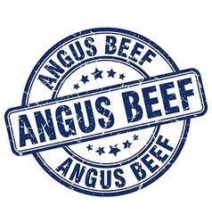 Angus beef blue grunge round vintage rubber stamp vector